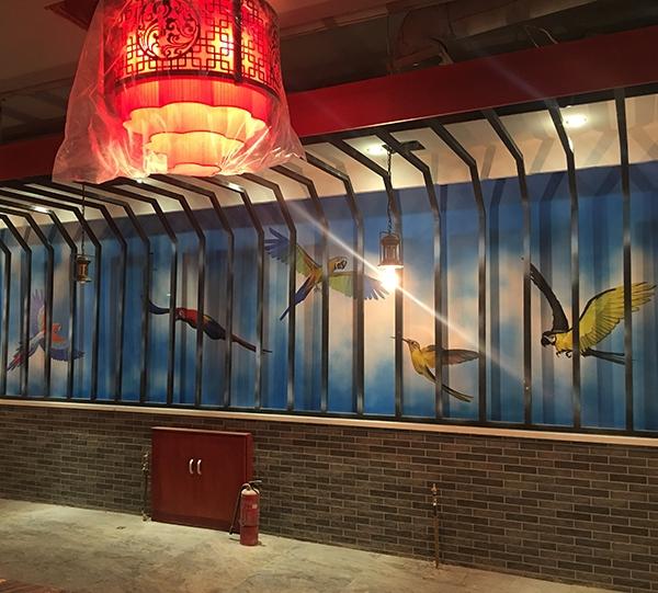 主题餐馆彩绘