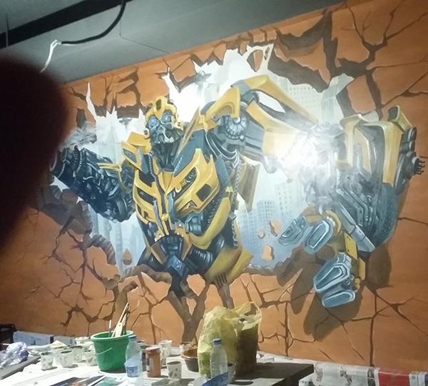 宏伟路主题烧烤彩绘墙