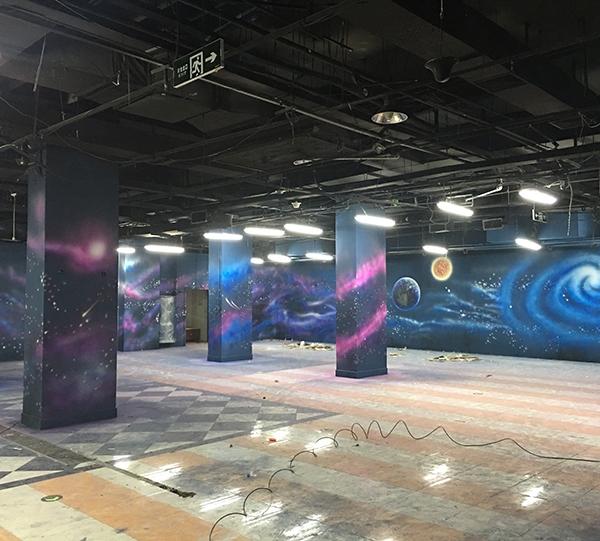 服装城VR体验馆彩绘