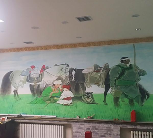 道外蒙古饭店手绘