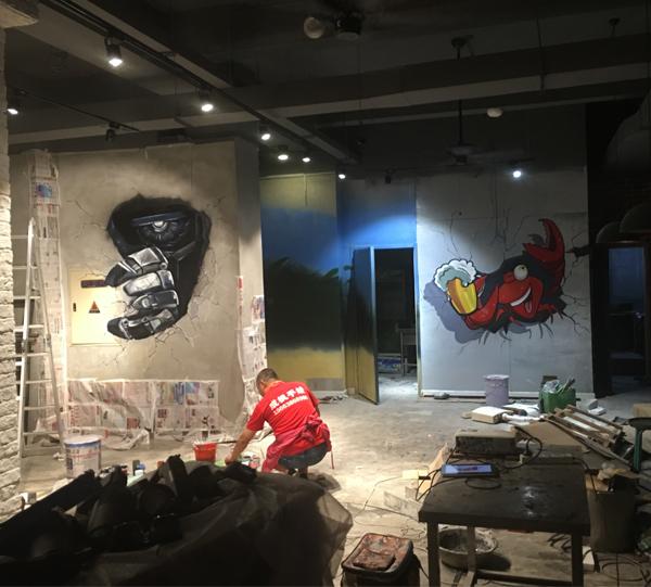 哈尔滨3D手绘墙