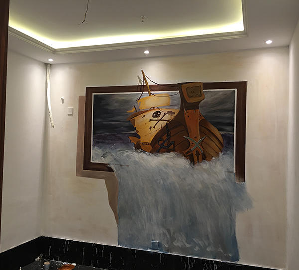 3D手绘墙
