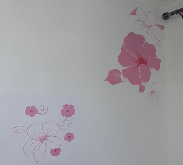 卧室彩绘墙