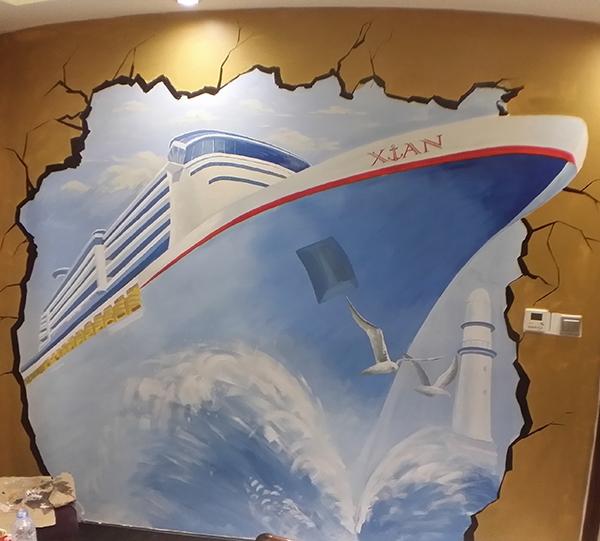 哈尔滨手绘3D立体画