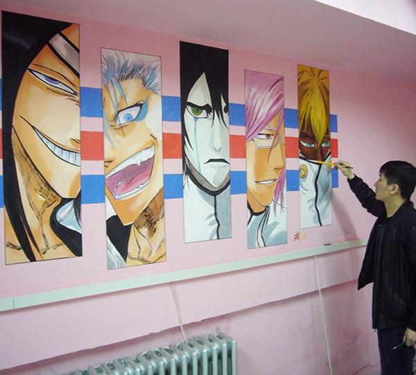 牡丹江手绘墙画