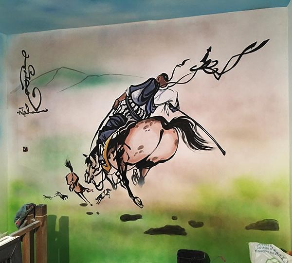 大庆大型墙体绘画