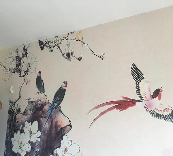 卧室墙手绘