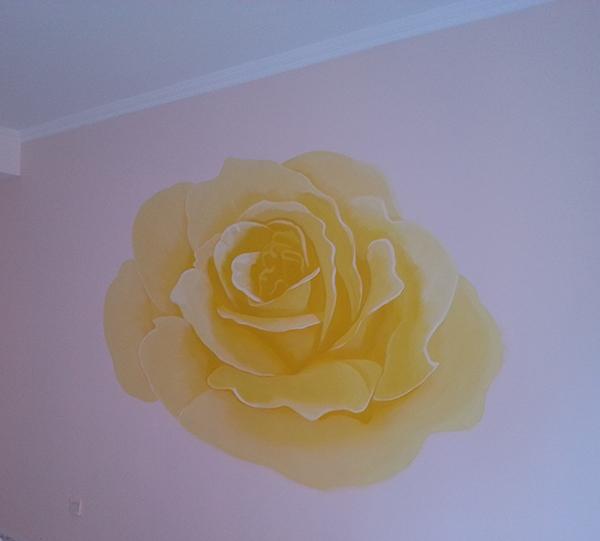 卧室墙彩绘