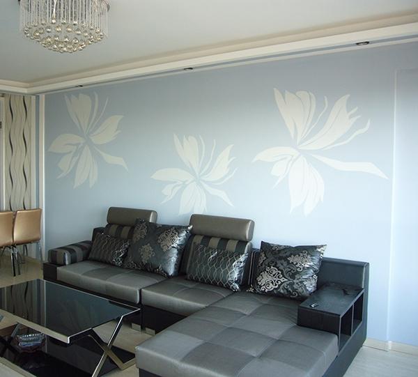 哈尔滨沙发背景墙彩绘