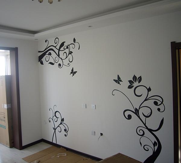 家装电视墙手绘