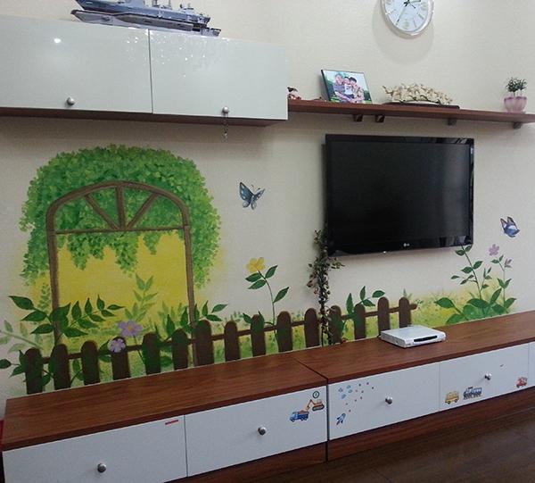 哈尔滨电视墙彩绘公司