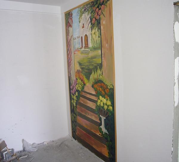 家装玄关彩绘墙