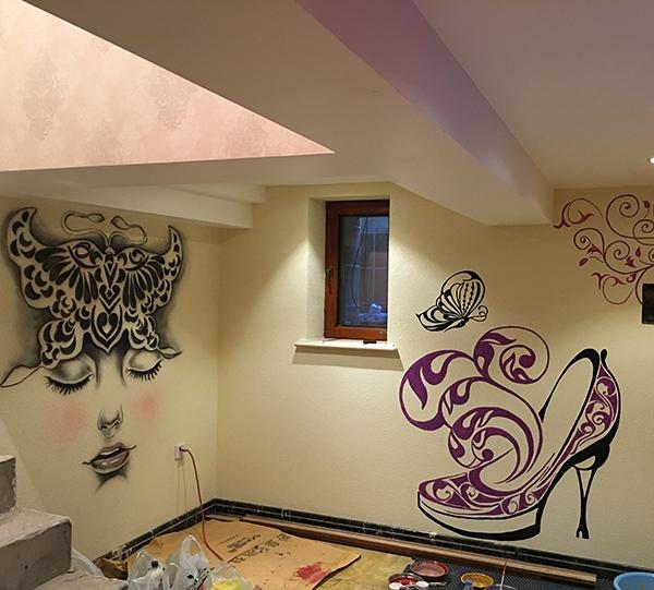 哈尔滨别墅彩绘