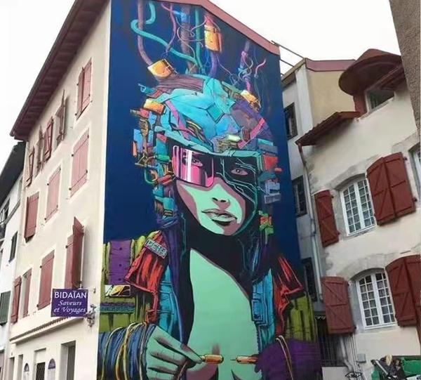 哈尔滨彩绘墙