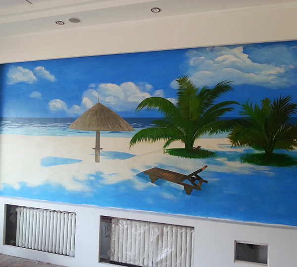 哈尔滨墙体手绘